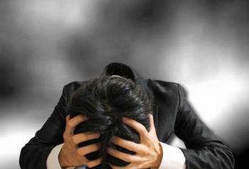 職場でのストレスが大きい30歳代後半の若い男性