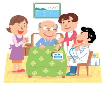 者さんの自宅や施設を医師が訪問して医療を提供する在宅医療